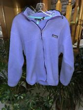 Vintage Men's Medium M Patagonia Purple Zipper Fleece Jacket - Free Shipping
