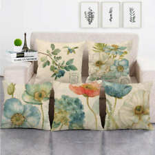 Pillowslip Blue Poppy Flowers Square Decorative Throw Pillow Case Cushion Cover