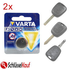 2x Varta Batteria Auto Chiave Per Peugeot 107 207 307 CITROEN c1 c2 c3 c4 SAXO