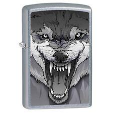 Zippo Snarling Wolf Street Chrome Finish Lighter SFO