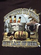 VINTAGE NEWPORT BLUE - NOTHING TO FEAR BUT LACK OF BEER T SHIRT MEDIUM
