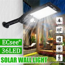 ECsee 36LED Solar  Wall Street Light PIR Motion Sensor Yard Outdoor