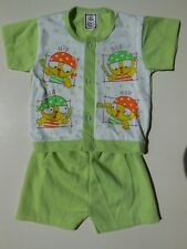 BABY BOY PIRATE TOP + SHORTS OUTFIT CLOTHES 100% SOFT COTTON SIZE 00 FITS 3-6M