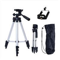 Aluminum Portable Camera Camcorder Tripod Stand w/ Phone Holder For Canon Nikon