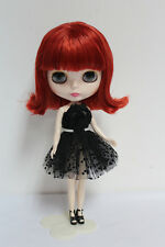 "12""Takara Neo Blythe Dolls from Factory Nude Dolls Wine Red Bangs Short Hair 5H"