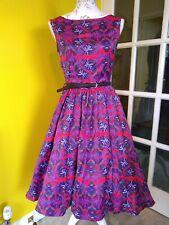 Lindy Bop Audrey Aztec Print Swing Dress Size 8
