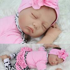 "22""-Handmade-Reborn-Baby-Toy-Newborn-Lifelike-Silicone-Vinyl-Sleeping-Girl-Doll"