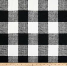 black and white buffalo check fabric