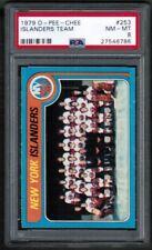 1979 80 OPC O-Pee-Chee #253 New York Islanders Team Checklist CL PSA 8