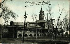 1911. WABASH HOSPITAL. MOBERLY, MO. POSTCARD s9