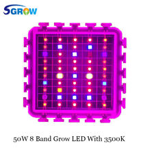 6pcs/Lot DIY 50W 8 Band Multi Color Full Spectrum Plant LED Grow Light Chip