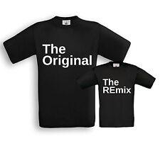 The ORIGINAL & The REmix - Vater / Sohn Partner Shirts - Papa Kind Taufe Familie