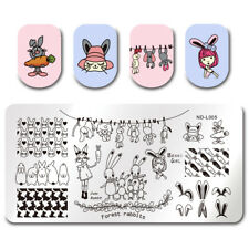 NICOLE DIARY Nail ArtStamping Plate Bunny Rabbit Carrot  Image Template Manicure