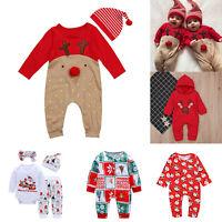 Toddler Baby Boys Girls Newborn Xmas Clothes Romper Bodysuit Jumpsuit Outfit Set
