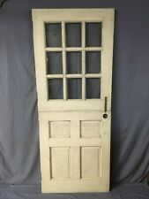 Vtg Mid Century Solid Wood Dutch Door 9 Lite 79x32 Shabby Cottage Chic 284-19E