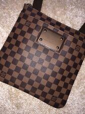 Louis Vuitton Damier Ebene District PM Messenger Bag Brown Checkered Canvas