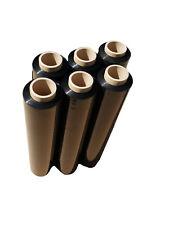 12 Rollen Stretchfolie schwarz 23my Wickelfolie Palettenfolie 500 mm 1,5kg
