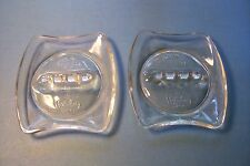 Lot Of Two Clear Glass Holiday Inn Ashtrays - Nice Motel Advertising Collectible