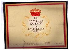 Album chromos- Chocolat Jacques -La Famille Royale- 1ere et 2eme série
