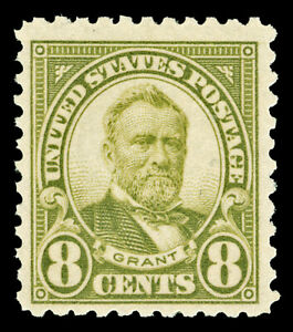 Scott 560 1923 8c Grant Perforated 11 Flat Plate Issue Mint F-VF LH Cat $37.50