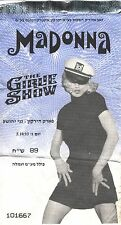 Madonna Show Ticket Israel 1993