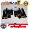 rallyflapZ SUBARU IMPREZA Blobeye (03-05) Mud Flaps Kit Black STi Gold 4mm PVC