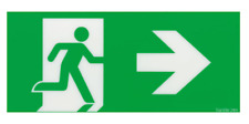 T&B Stanilite Pictograph Insert 24M Green Running Man RIGHT from here Arrow Sign