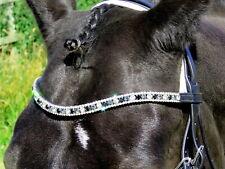 FSS Diamond Clear/Jet Black/Grey Crystal SHIMMER Bling U Curve Shape Browband🦄