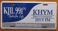 2002 KJIL 99.1 FM GREAT PLAINS CHRISTIAN RADIO BOOSTER License Plate