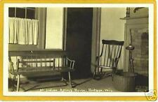 Real Photo Postcard RPPC Indian Agency House Portage WI