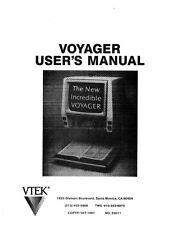 Vtek Voyager Electronic Visual Aid Owners Manual