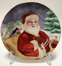 American Atelier Santa Claus 5052 Dessert Appetizer Plate Porcelain Design #4