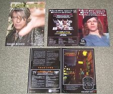 Free ship! David Bowie Japan Promo handbill x 3 set Flyer leaflet Mini Poster
