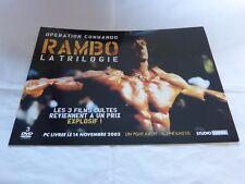 SYLVESTER STALLONE - Plan média / Press kit !!! RAMBO LA TRILOGIE !!!