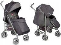 BABY STROLLER KIDS PUSHCHAIR BUGGY PRAM RAIN COVER & MOSQUITO NET IRMA LIONELO