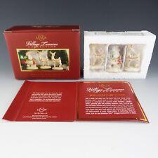Lenox China Santa Claus & 2 Reindeer 2006 Mistletoe Park Village Treasures Mint