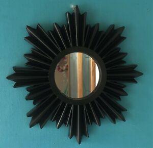 Vintage style Art Deco Sunburst Mirror in black