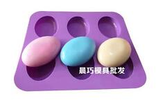 6- Oval Cake Mold Soap Mold Mold Silicone Mould For Candy Chocolate Ice lattice