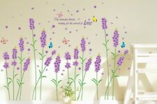 Lavender Flowers Removable Wall Stickers Decal Mural Vinyl Home Decor OZ Stock