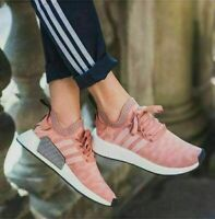 adidas Originals Womens NMD R2 Primeknit Trainers Raw Pink Shoes All Sizes