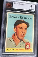 1958 Topps #307 Brooks Robinson Orioles CENTERED NM-MT BVG 8