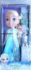 NEW Disney Frozen Elsa Toddler Doll Royal Reflection Eyes, Brush, Olaf, Necklace