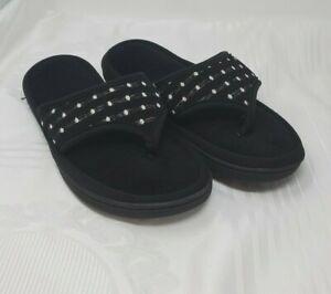 Isotoner Signature Women's Jersey Dot Ada Thong Slipper Size 8.5-9