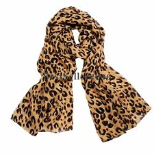 Trendy Leopard Zebra Animal Print Chiffon Scarf Wrap Stole Shawl for Ladies