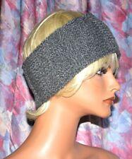 619012a96d1e76 Handgestrickt Haarband Stirnband Ohrwärmer Headband grau Unikat gestrickt