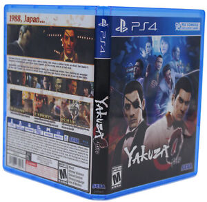 Yakuza Zero PS4 PlayStation 4 Replacement Game Case & Cover Art (No GAME DISC)
