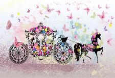 7x5ft Vinyl Cartoon Princess Bicycle Photography Studio Backdrop Background