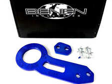 JDM Blue Anodized Aluminium Racing Rear Car Tow Towing Hook Trailer Universal