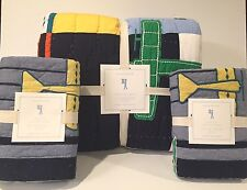 NEW Pottery Barn Kids Airplane Icon Full/Queen Quilt and 2 Euro Shams