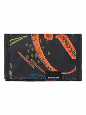 QUIKSILVER MENS WALLET.EVERYDAILY BLACK TRIFOLD MONEY NOTE COIN PURSE 7W 30 KVJ7